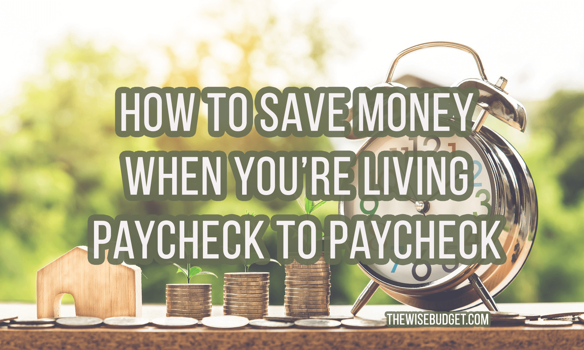 thewisebudget how to save money when living paycheck to paycheck