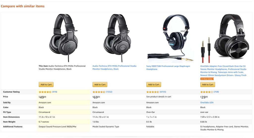 amazon compare prices
